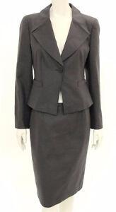 Armani Collezioni Grey Women's Cotton Skirt Suit Sz.6