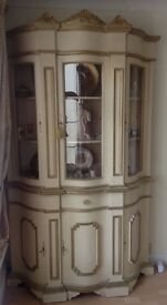 Italian shabby chic dresser cabinet. And TV cabinet £550 together