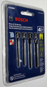 Drill Bit Set, Bosch Glass-Tile 4-Piece GT2000 NEW only $20