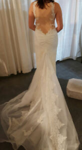 BRAND NEW Stunning Wedding Gown with Illusion Back