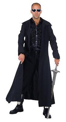 Matrix Neo Reloaded Blade Mantel Kostüm Dracula Vampir Herren Halloween Gothic (Matrix Neo Kostüm)