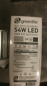 Led light/  lumière del 54w, 45w