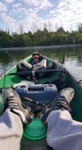 Canoe and trolling motor