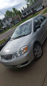 Toyota 2004 Corolla comes with winter tire on rims