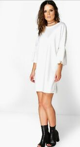 Ivory Sleeve Dress - size 4 - SMALL (BRAND NEW-NEVER WORN)