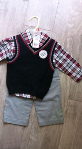 Brand new with tags. 6-12 months vest outfit $10