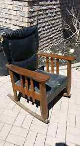 ANTIQUE MISSION ROCKER OAK