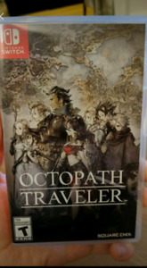 Octopath traveler for Switch. Excellent JRPG. Like new.