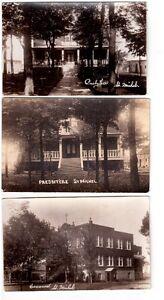 3 cartes postales photos de Napierville , Qué.