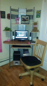 Computer desk and chair-$40
