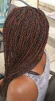 Hair braiding, fixing of wigs, cornrows book with us