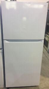 "Samsung white 30""W x 67""H x 28""D top mount fridge $799"