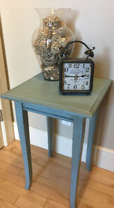 Refinished Solid Wood Accent Table