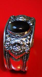 Single stone white metal bangles - Handmade brand new