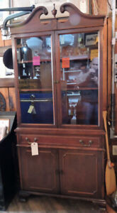 Mahogany China Cupboard