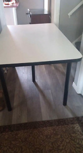 Black and white kitchen table...priced to sell