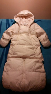 Gap Baby Snowsuit 6/12mts Down Filled Converts 2 Bunting Bag New