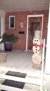 Wooden log Christmas Snow man delivered to you door! Kingston Kingston Area image 3
