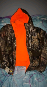 Hunter orange camo reversible