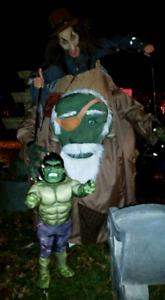 Costume d'halloween L'incroyable Hulk pour enfant de 4-8 ans