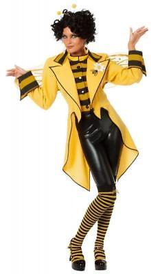 n Wespe Hummel Kostüm Frack Jacke Kleid Damen Tier Horniße (Kostüm Hummel)