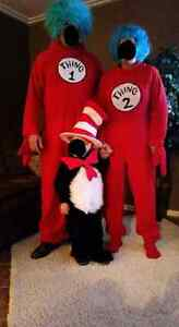 Cat in the Hat and Thing 1 & 2 costumes