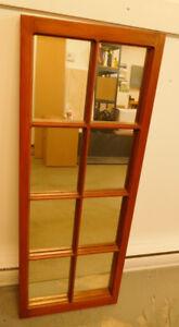 Grand miroir, cadre en bois fait à la main