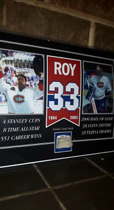Patrick Roy game used stick hockey picture