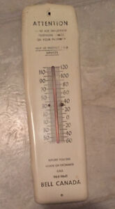 bell telephone thermometer sign