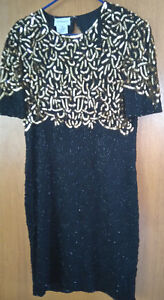Elegant Black Silk Dress by STENAY  - Size 14