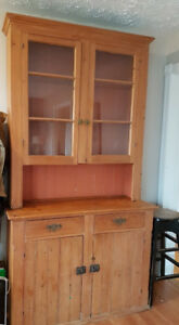 Antique Solid Oak Hutch / Side Board (Or Best Offer)