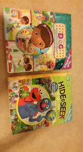 First look and find series. Sesame street and DocMcstuffin