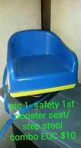 Booster seat and plastic dishes Cambridge Kitchener Area image 1