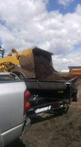 14 ft dump trailer like brand new