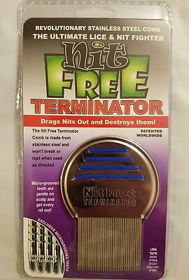 NEW Nit Free Brand Terminator Comb Rid Head Lice Stainless Steel Back to School ()