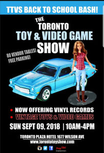 SUN SEP 9 TOY SHOW Toys, Sports Cards, Coins, Vinyl, Video Games
