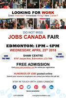 Edmonton Job Fair - April 25th, 2018