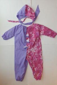 Costume de clown - Rose et lilas - Fille