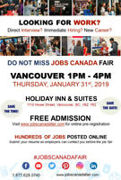 FREE: Vancouver Job Fair - January 31st, 2019