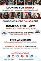Free: Halifax Job Fair – March 19th, 2019