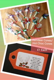 *Handmade Christmas* Santa Treat Sleighs/Hot Choc Cones/Reindeer Food