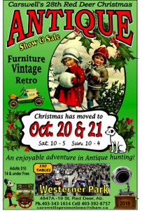 Carswells 28th Red Deer Christmas  Antique & Vintage Show & Sale