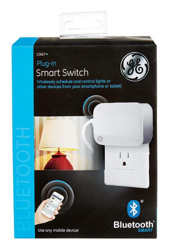 GE 13867 Bluetooth Plug in Smart Switch Bluetooth White