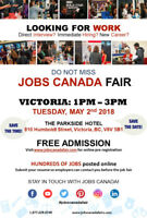 Victoria Job Fair – May 2nd, 2018