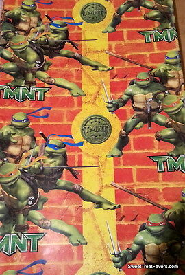 Ninja Turtles Wrapping Paper Sheet Gift Book Cover Party Donatello Wrap x2 - Ninja Turtle Wrapping Paper
