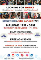 Free: Halifax Job Fair – December 11th, 2018