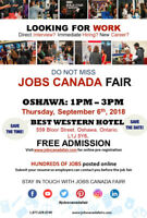 Oshawa Job Fair - September 6, 2018 from 1 PM to 3 PM