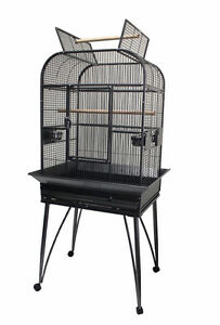 """26"""" Brand New Premium Open Top Bird Parrot Cage with Stand"""