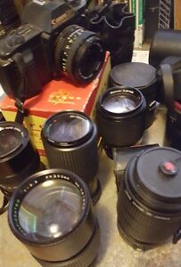 VINTAGE 35MM CAMERA LENSES