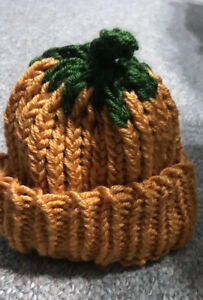 Toddler/child knit pumpkin hat